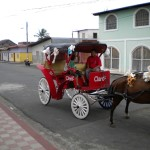 Horse drawn carriage ride through Granada, Nicaragua